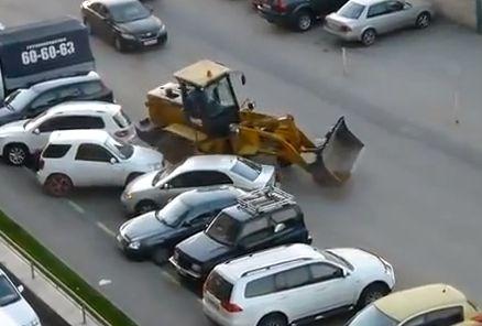 conductor de bulldozer borracho
