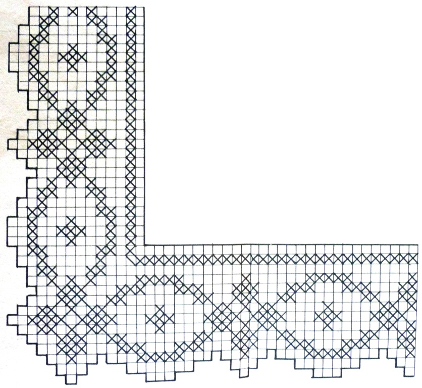 Кайма вязание филейное схемы 19