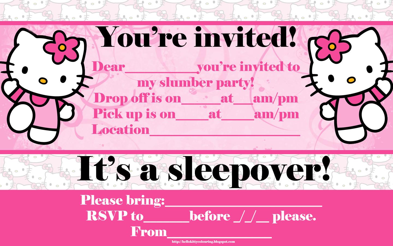 40th Birthday Ideas Birthday Invitation Card Maker Hello Kitty