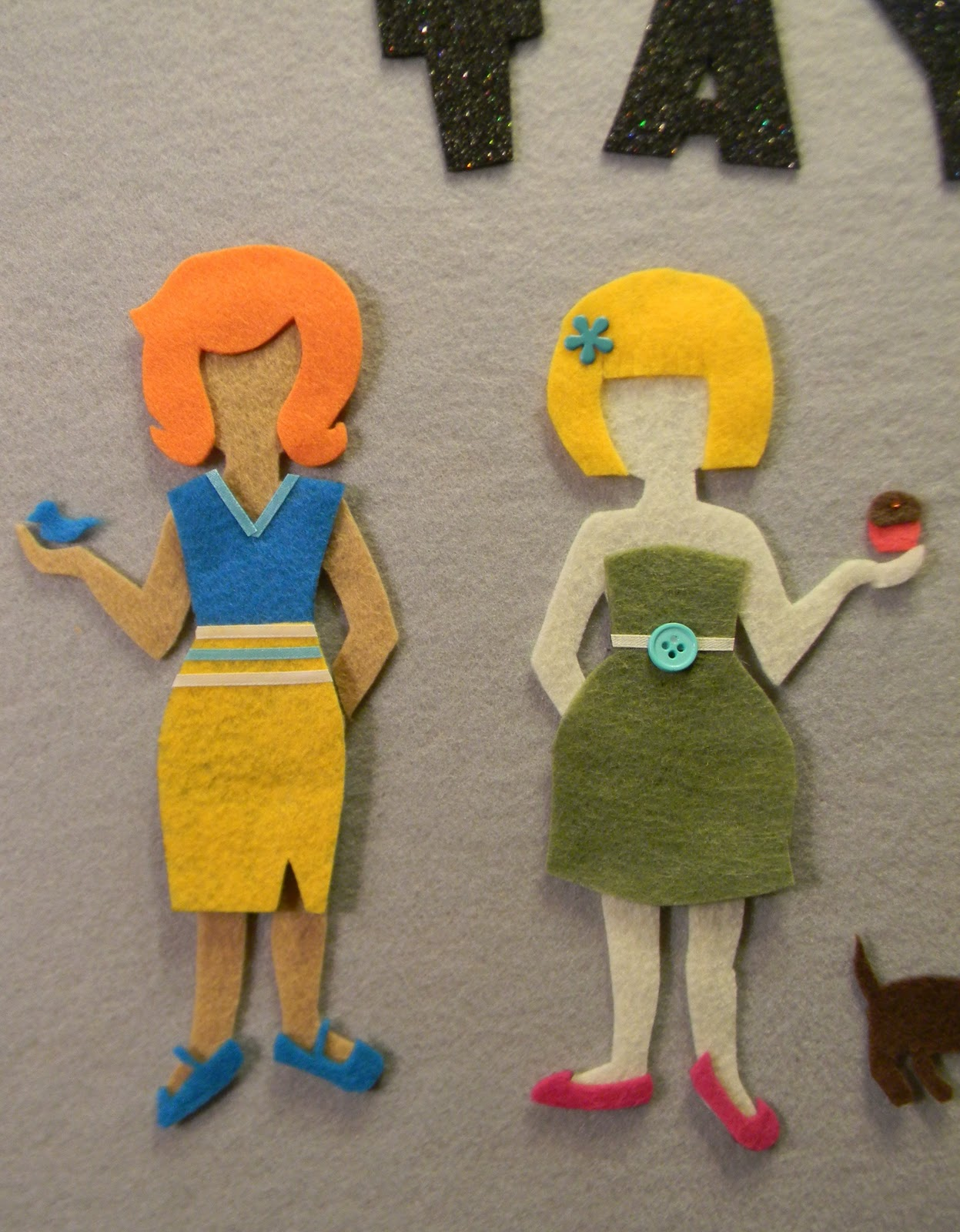 From dahlias to doxies diy felt dress up dolls diy felt dress up dolls pronofoot35fo Choice Image