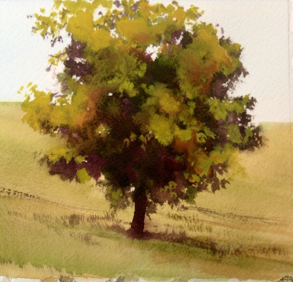 The gallery for easy watercolor paintings for Easy watercolor portrait