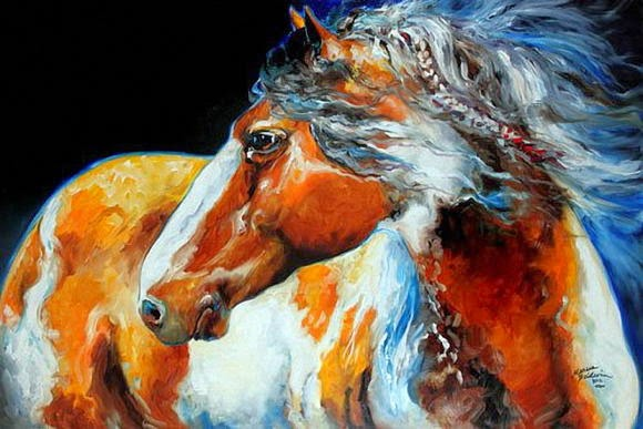 Lukisan Kuda Karya Marcia Baldwin Hourse painting