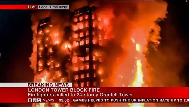 To Λονδίνο ζει την δικιά του 9/11: Τρομακτική πυρκαγιά σε 27ωροφο κτήριο