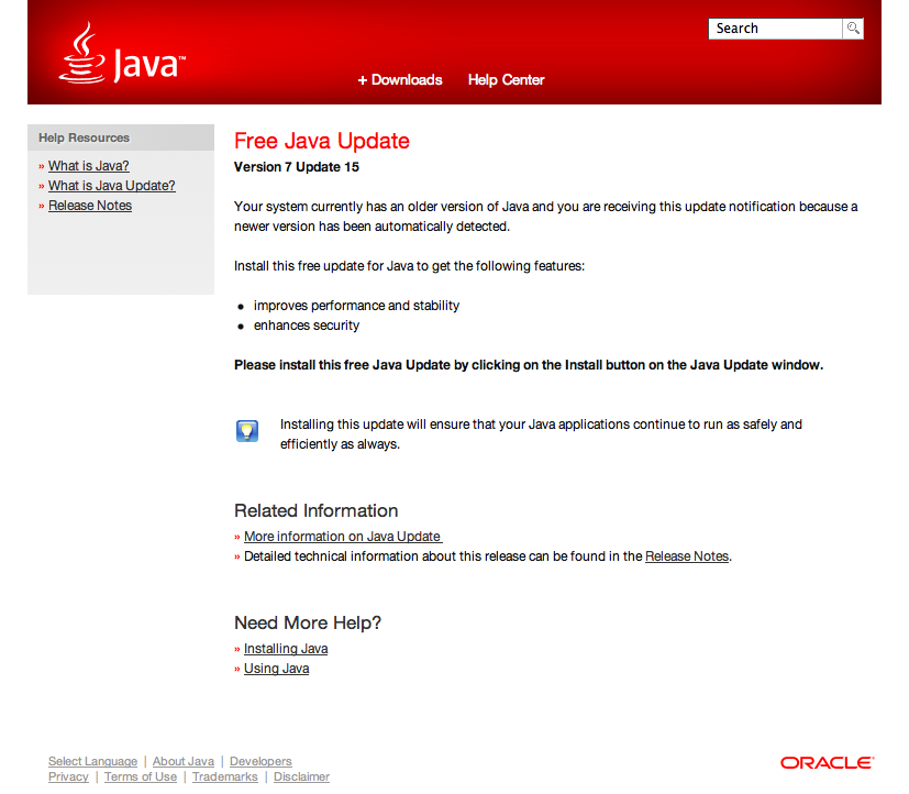 free java help Make sure you are using a java and flash compatible browser.