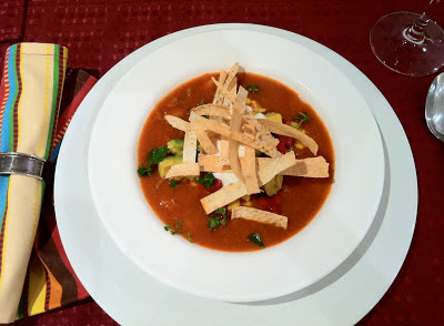 chorizo & shrimp tortilla bisque @ SouthernSpoon blog