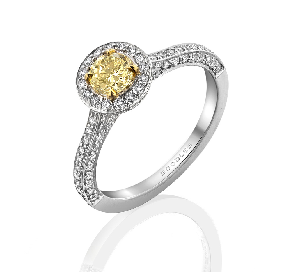 Harry Winston Radiant Yellow Diamond Ring