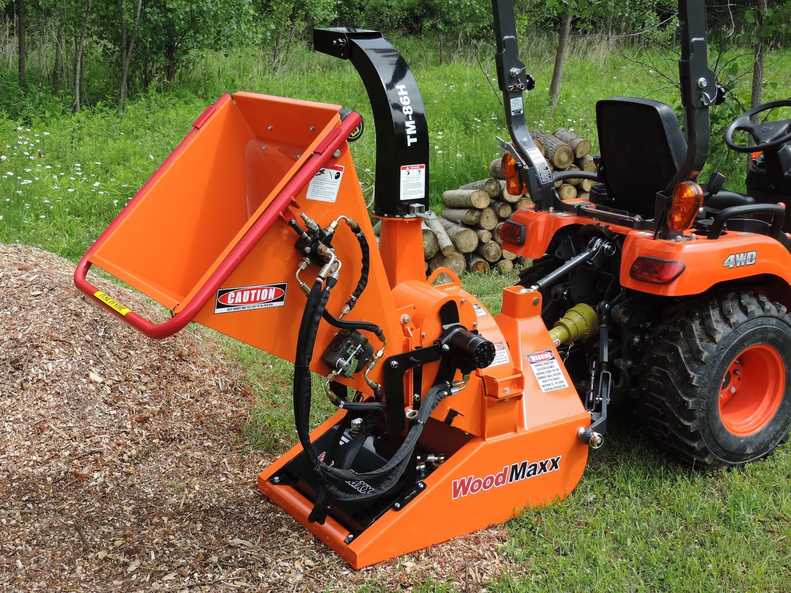 Woodmaxx Tm 86h Pto Hydraulic Wood Chipper
