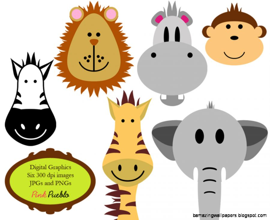Zoo Animals Together Clipart KIDS ZOO ANIMALS CLIP ART