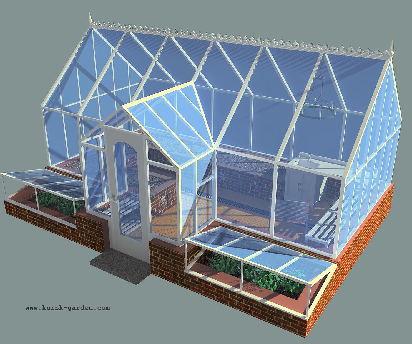 Проект теплицы 3D