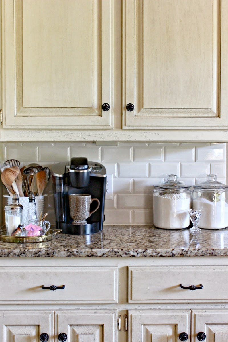 SUBWAY TILE KITCHEN BACKSPLASH Dimples And Tangles - White kitchens with subway tile backsplash