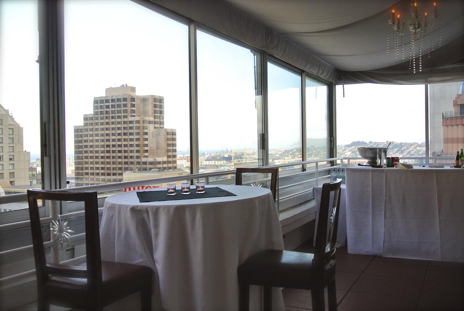 Bar area, view of San Francisco