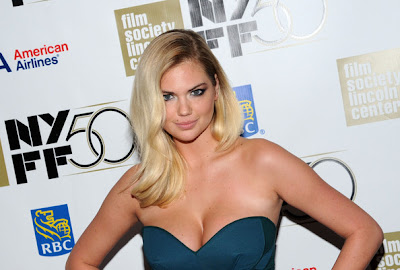 Kate Upton Casting By Premiere After Party- 50th New York Film Festival Sexy Blue Dress
