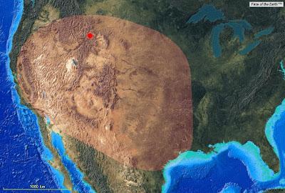 mapa Parque Nacional de Yellowstone - supervolcán