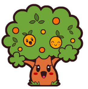 Desenho de Árvore Fofa colorida