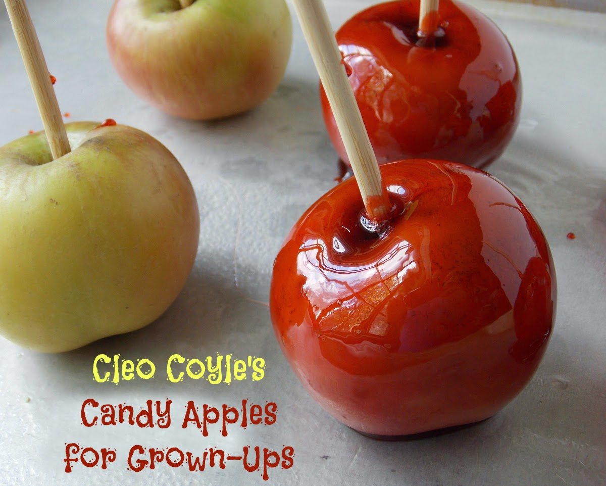 candy apples for grown ups a scream poll and giveaway for halloween via cleo coyle - Periodic Table Tin Apple
