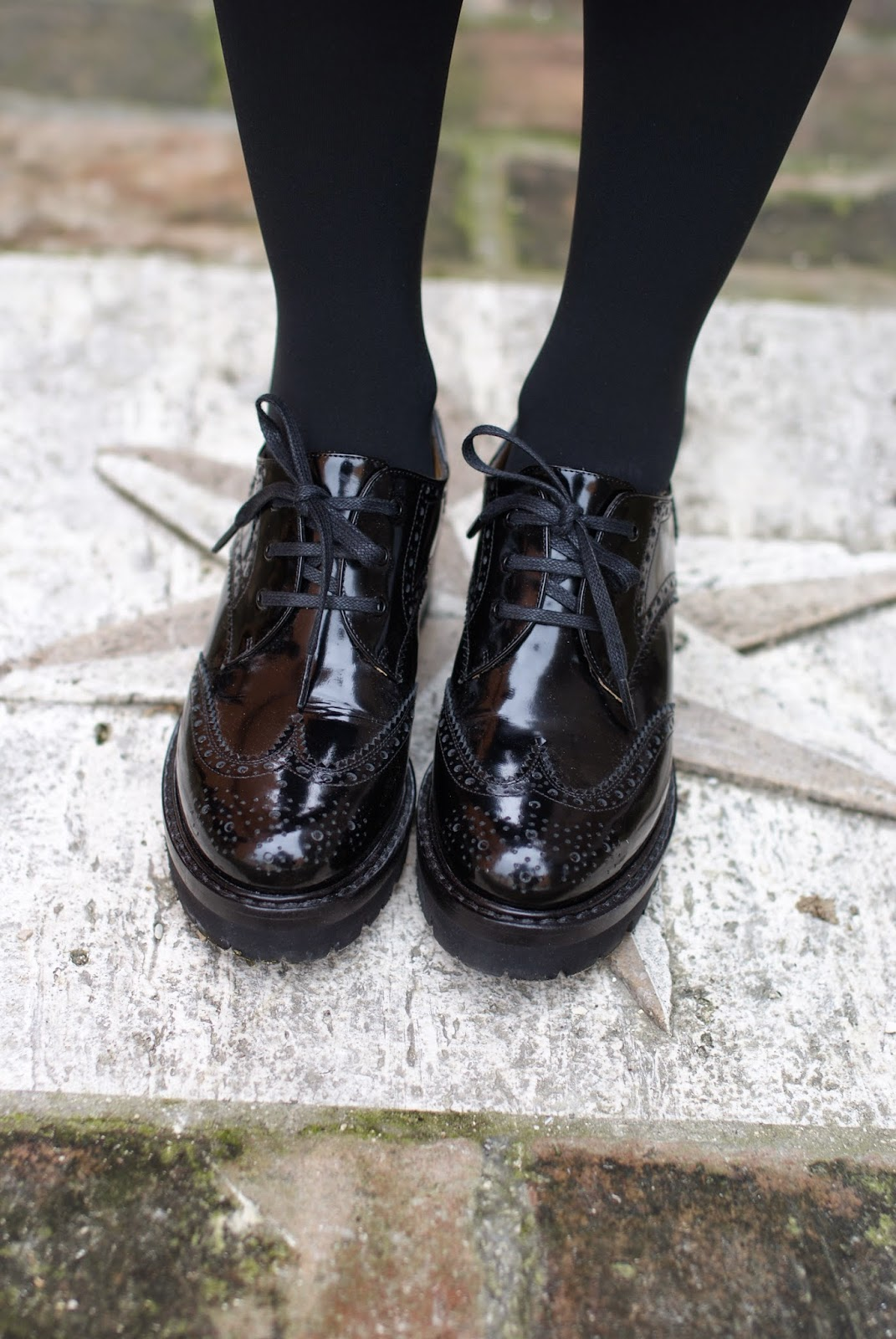 Nando Muzi brogues, scarpe stringate, patent leather brogues, Fashion and Cookies, fashion blogger