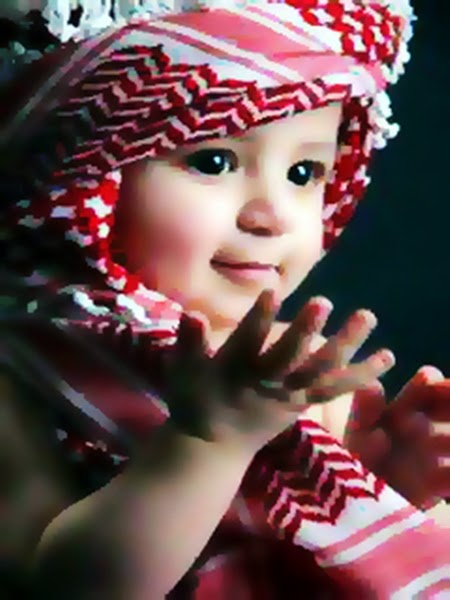 Gambar DP BBM Doa Islami Anak Bayi Lucu Berdoa Penuh Harapan