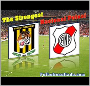 Postal de Strongest y Nacional Potosí