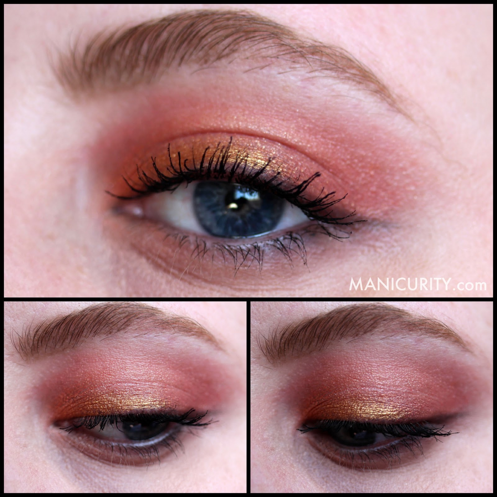 Manicurity - Ipsy Glam Bag December 2013 Hits & Misses | Be a Bombshell Cosmetics The One Stick in Sunset (cream multiple product) swatches, review, wear test - on eyes, lips, and cheeks