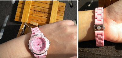 Different views wearing the Lolly Watch