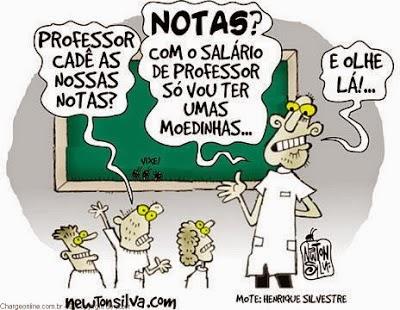 Professor e as notas?