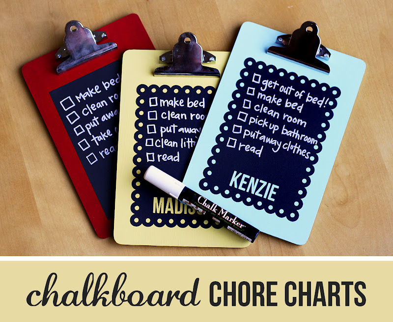 Chalkboard Chore Charts Eighteen25