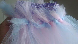 crochet headband tulle
