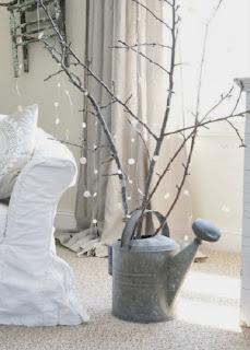 Arboles de Navidad con Ramas Secas, Adornos Naturales