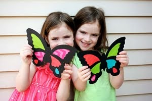 DIY SUNCATCHER BUTTERFLIES