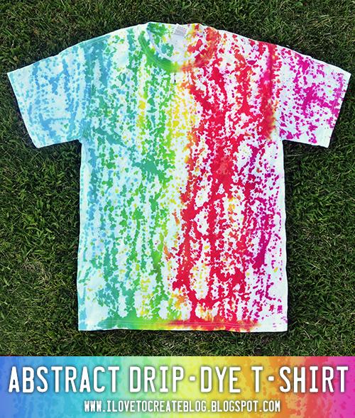 Abstract Drip Dye T-shirt | iLoveToCreate