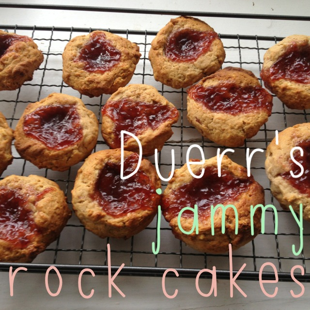 ThatRedheadSaid : Baking with Duerr's : Duerr's Jammy Rock Cakes