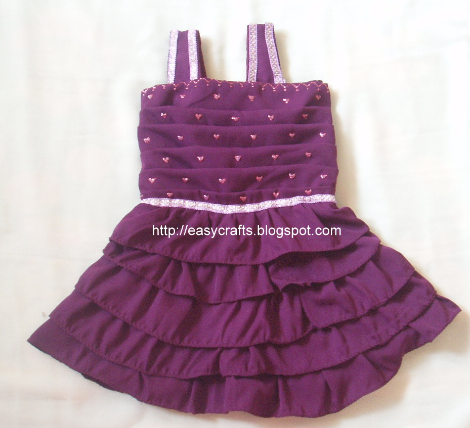 Easy crafts explore your creativity kids frock