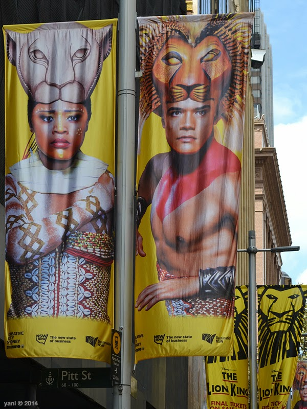 these lion king banners were all over sydney