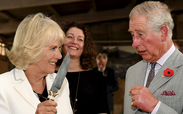 Camilla Brandishes A Knife At Prince Charles As She Tells Him To 'Behave'