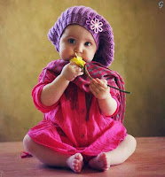 Babies Pictures Pink Dress With Flower Kids Images