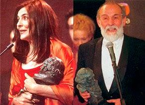 Los actores Ana Fernández y Carlos Álvarez-Novoa, mejores actores revelación de 1999