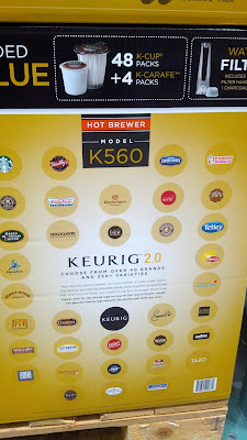 You can get different flavors of coffee and tea for the Kcups the Keurig K560 uses