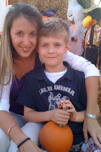 My son (AJ) and I at the pumpkin patch
