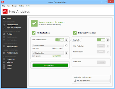 تحميل افيرا انتي فيروس 2015 مجاني برابط مباشر Avira Free Antivirus 15.0.8.656