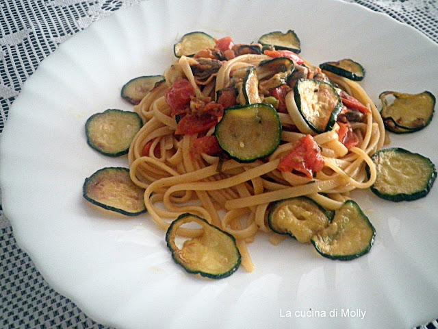 linguine alle zucchine e cozze