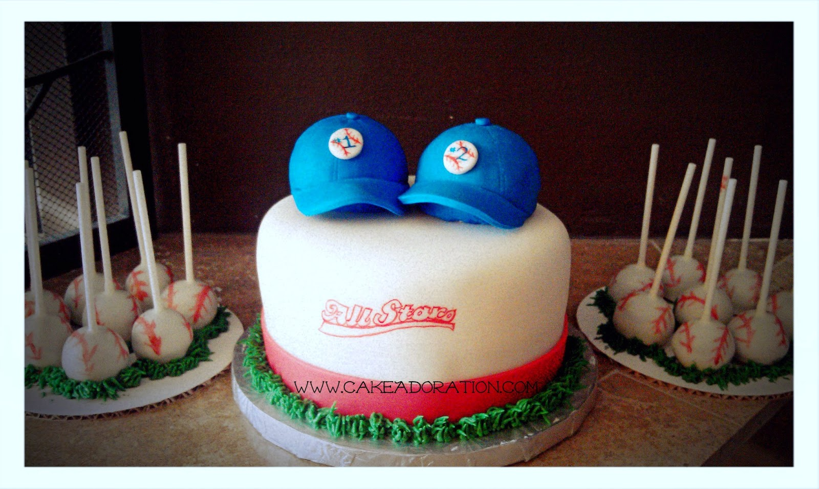 baseball baby shower cake and cake pops twins baby shower