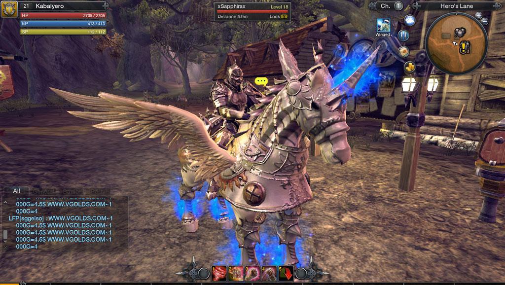 My Winged Arrod Mount In RaiderZ - KABALYERO - Knight Of ...