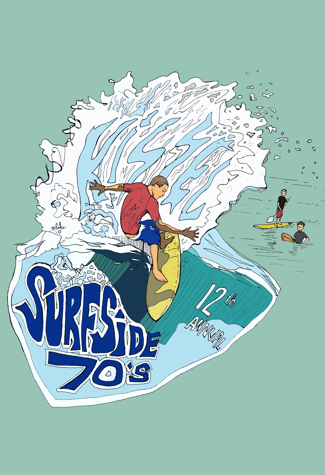 2010 12th annual Surfside Seventies poster