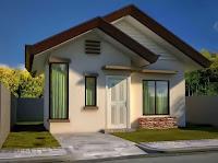 modelo de casa pequeña blanca y techo café