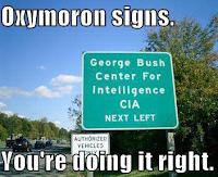 La única manera de relacionar inteligencia con Bush.