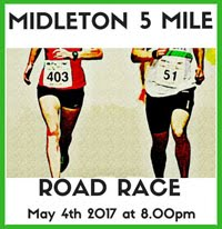 Annual Midleton 5 mile road race...Thurs 4th May 2017