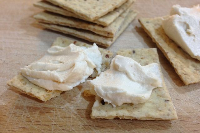 Vegan Crackers and Cheese