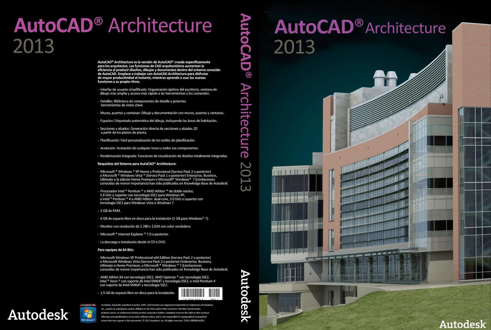 Autodesk Autocad Architecture 2013 SP1 X86 X64 autocad architecture 2013 XANDAODOWNLOAD