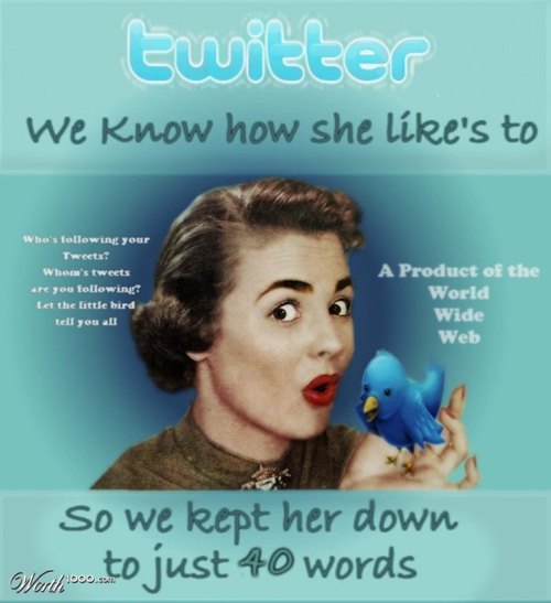 anúncios vintage - produtos modernos - Twitter