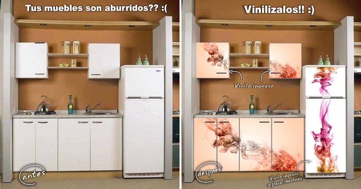 Decorativa vinilos para tu hogar cambiar la imagen de tu cocina con pocos elementos - Cambiar cocina con vinilo ...